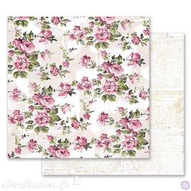 Papier scrapbooking Prima Marketing réversible Misty Rose Memorable Floral Wall