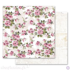 Papier scrapbooking Prima Marketing réversible Misty Rose Memorable Floral Wall