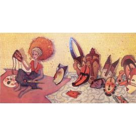 Carte postale Anne Soline les masques de zoé