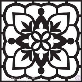 Pochoir déco stencil arabesques 20x25cm 7 motifs