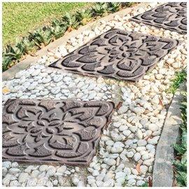 Pochoir 3D stencil déco pour dalle béton Moroccan Sands 29x29cm