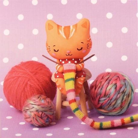 Carte postale miss bonbon tricotine