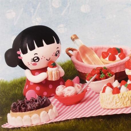 Carte postale miss bonbon gourmandises