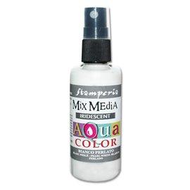 Encre en spray Mix Media Aqua color blanc perle