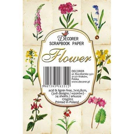 Etiquettes décoratives flower 24p