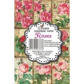 Etiquettes décoratives roses 24p