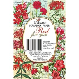 Etiquettes décoratives fleurs red for you 24p