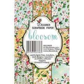 Etiquettes décoratives fleurs bloosom 24p