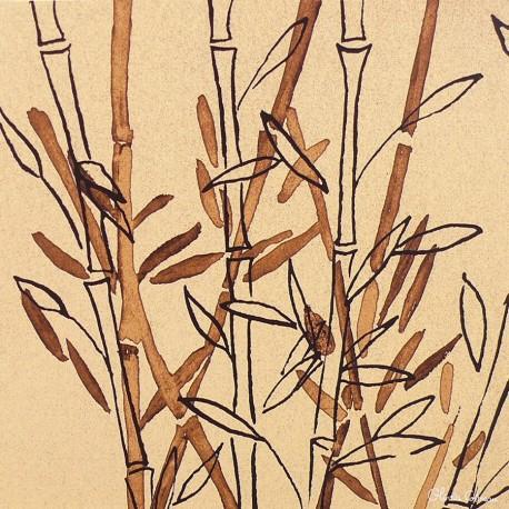 Carte postale fleurs Olivia Celest bambou