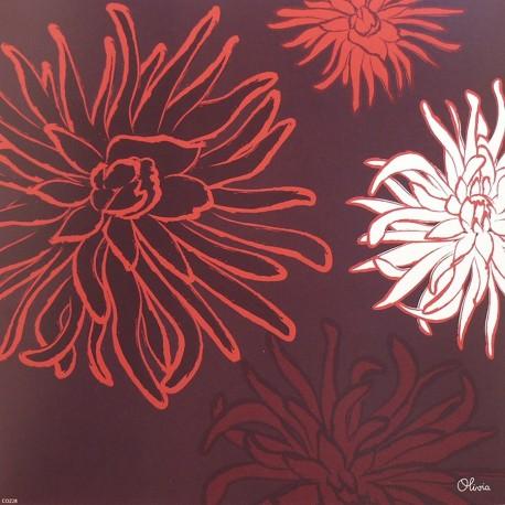 Carte postale fleurs olivia dalhias