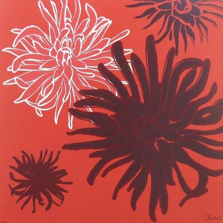 Carte postale fleurs olivia dalhias 2