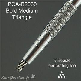 PCA outil de perforation triangle plein bold 6 pointes épais