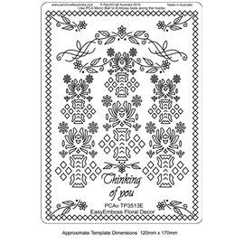 Template PCA gabarit traçage motifs décor floral