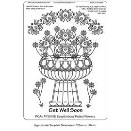 Template PCA gabarit traçage motifs coupe florale