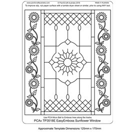 Template PCA gabarit traçage motifs vitrail floral