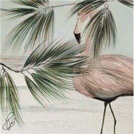 Carte d'art Valie Le Boeuf Le Prince rose et la Mer 14x14 cm