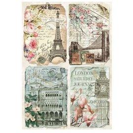 Papier de riz vintage capitale Stamperia format A4