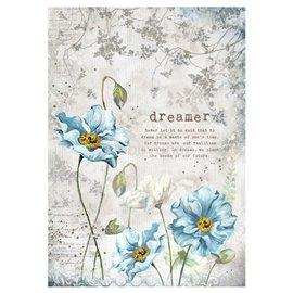 Papier de riz rêveur Stamperia format A4