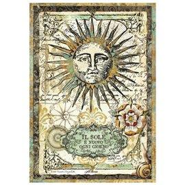 Papier de riz alchimie soleil Stamperia format A4