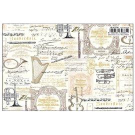 Papier italien motifs instruments de musique