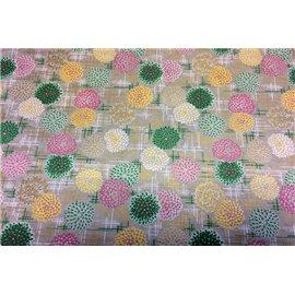 Papier japonais washi lotus multicolores fond bleu By Taniguchi