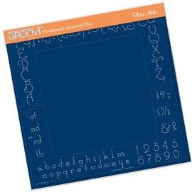 Groovi gabarit traçage parchemin alphabet et chiffres