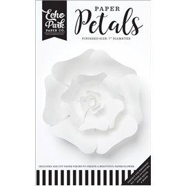 Fleurs Echo Park Paper CO. rose blanche en papier 17cm 1p