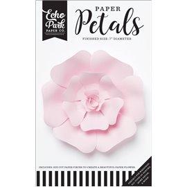 Fleurs Echo Park rose rose pale en papier 17cm 1p