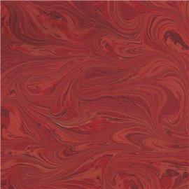 Papier marbré italien rouge