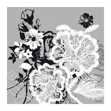 cartes postales fleurs encadrement noir argent archibald. Black Bedroom Furniture Sets. Home Design Ideas