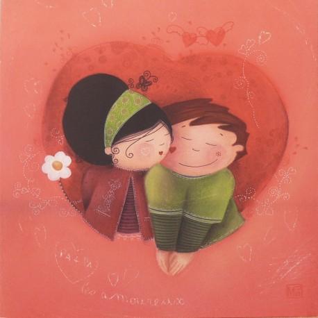 Carte postale Marie Pierre Emorine bisou d'amour