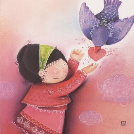 Carte postale Marie Pierre Emorine petit mot d'amour