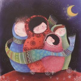 Carte postale Marie Pierre Emorine sous la lune