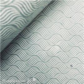 Papier népalais lokta river bleu clair et blanc