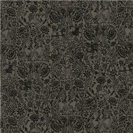 Papier fantaisie serenissime noir imprimé noir