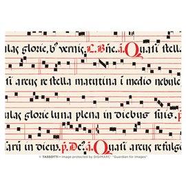 Papier tassotti à motifs chant médiéval