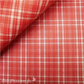 Papier tassotti à motifs tartan rouge