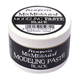 Pate de structure noire modeling paste Mix Media Art Stamperia