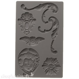 Moule décoratif IOD Iron Orchid Designs en silicone flexible baroque 1