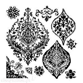 Tampons IOD Clear Stamps Trompe l'oeil II 30x30cm 7 pièces