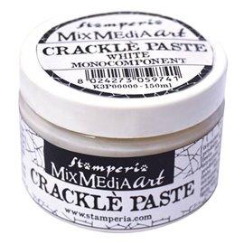 Pate cracklé paste blanche monocomposant décoratif 150ml
