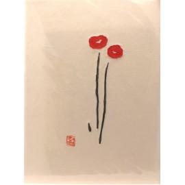 Gravure takbon fleurs souriantes