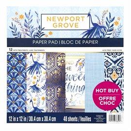 Papier scrapbooking assortiment newport grove bloc 48fe 30x30