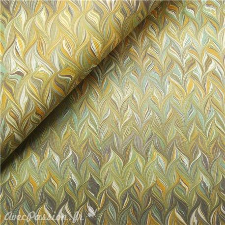 Papier tassotti à motifs combinés jaune