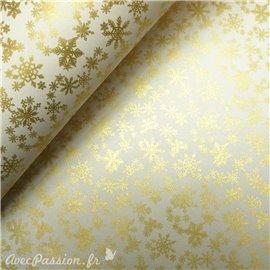 Papier tassotti à motifs flocon doré