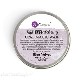 Cire bleu Art Alchemy métallique Opal Magic Wax Blue Velvet