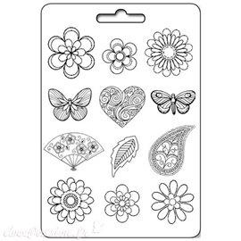 Moule décoratif thermoformé Stamperia mer stampo fleurs & papillons