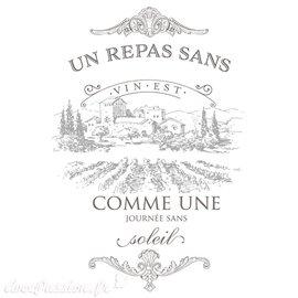 Transfert pelliculable Redesign Prima marketing décor vin taupe