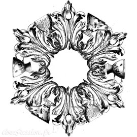 Transfert pelliculable Iron Orchid Designs IOD décor Medallion 40