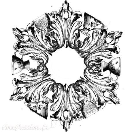 Transfertpelliculable Iron Orchid Designs IOD décor Medallion 40